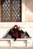 Mother and Daughter in Venice Italy — Stock Photo
