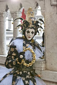 Closeup of a Jester in Venice Italy — Stock Photo