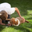 Boy and his Dog - Stock Photo