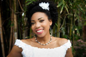 Beautiful African American Woman on her wedding day — Stock Photo