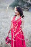 Młoda kobieta piękna mieszanej rasy — Zdjęcie stockowe
