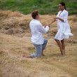 Stock Photo: Proposing in paradise