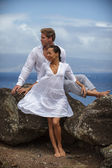 Romantyczna para w raju — Zdjęcie stockowe