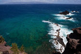 Maui diving spot with Lanai in the background — Stock Photo