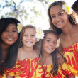 Stock Photo: Polynesian Hula girls in Friendship