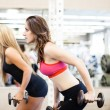 Woman at the gym - Foto Stock