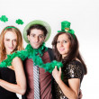 Friends Celebrating Saint Patrick's Day — Stock Photo