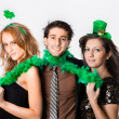 Friends Celebrating Saint Patrick's Day - Stock Photo