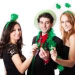 Friends Celebrating Saint Patrick's Day — Stock Photo #21448079