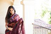 Beautiful Indian woman in sunshine — Stock Photo