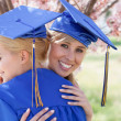 Women Graduates embracing after Graduation — Stock Photo