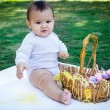Babies First Easter — Stock Photo