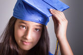 Pretty young graduate — Stock Photo