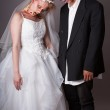 Wedding Day Zombie Bride and Groom — Stock Photo