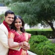 Attractive Indian bride and groom — Photo
