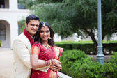 Attractive Indian bride and groom — Foto de Stock