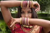 Beautiful Jeweled Indian Dancer — Stock Photo