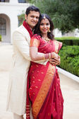 Attractive Indian bride and groom — Stock Photo