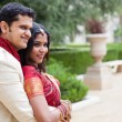 Royalty-Free Stock Photo: Attractive Indian bride and groom profile