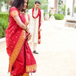 Beautiful Indian bride dancing — Stock Photo #24505205