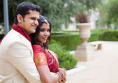 Attractive Indian bride and groom profile — Stock Photo
