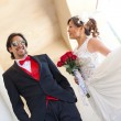 Beautiful Bride and Groom — Stock Photo