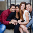 Attractive Group of young people — Stock Photo