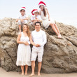 Christmas Family Portrait at the Beach — Stock Photo #31423039