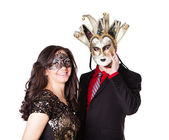 Attractive Young couple Masquerading — Foto de Stock