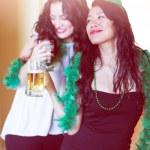 Pretty women celebrating St Patrick's Day — Stock Photo #44501573