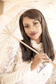Beautiful Bride in Sun — Stock Photo