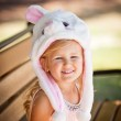 Pretty young girl in a Bunny hat — Stock Photo #44546743