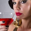Beautiful Woman and her Martini — Stock Photo #8098494