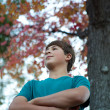 Handsome Teenager Outdoors — Stock Photo #8165785