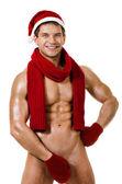 Sexy man Santa Claus — Stock Photo