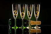 Champanhecoração para um jantar — Foto Stock