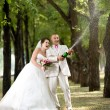 Newly married couple — Stock Photo #14190126