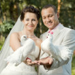 Newly married couple — Stock Photo #14190105