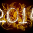 Stock Photo: Date New Year 2014