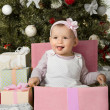 Christmas and baby girl  — Stok fotoğraf