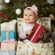 Christmas and baby girl  — Stock Photo