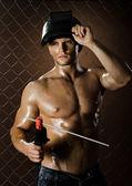 Soldador de obrero — Foto de Stock