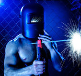Workman welder — Stock Photo