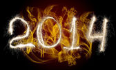 Date New Year 2014 — Stock Photo