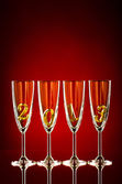 Glasses for new year — Stock Photo