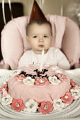 Baby birthday — Stock Photo