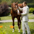 Stockfoto: Mwith horse