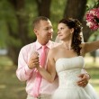 Newly married couple — Stockfoto