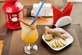 Ginger freshener soft drinks — Stock Photo
