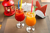Two freshener soft drinks with ice — Stock Photo